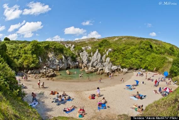 gulpiyuri beach