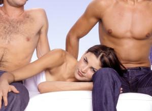 THREE PEOPLE HAVING SEX