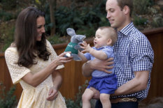 Kate and William with George | Pic: AP