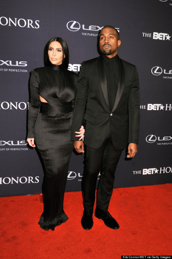 Kim Kardashian And Kanye West Rock Matching Outfits To The 2015 BET Honors