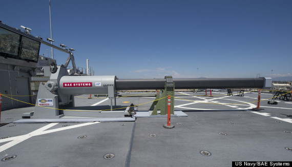 US Navy Unveil The Railgun , Uses No Explosive, No Chemical