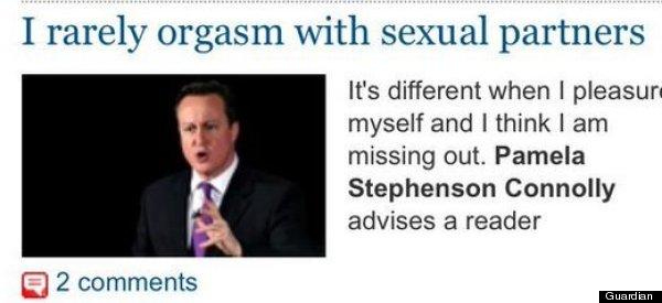 David Cameron Appeals For Orgasm Advice Via Guardian Picture Desk Fail