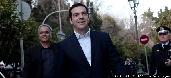 Greece's New Prime Minister Sworn In With A Smile, But Minus A Tie