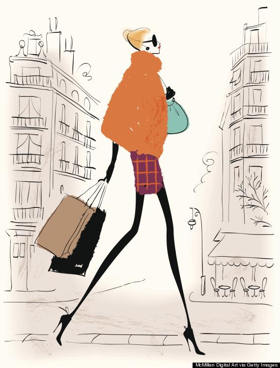 illustration shopping