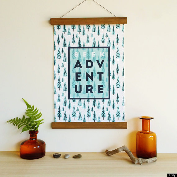 10 Poster Decorating Ideas That Wont Remind You Of A Dorm  ~ 170956_Etsy Dorm Room Ideas