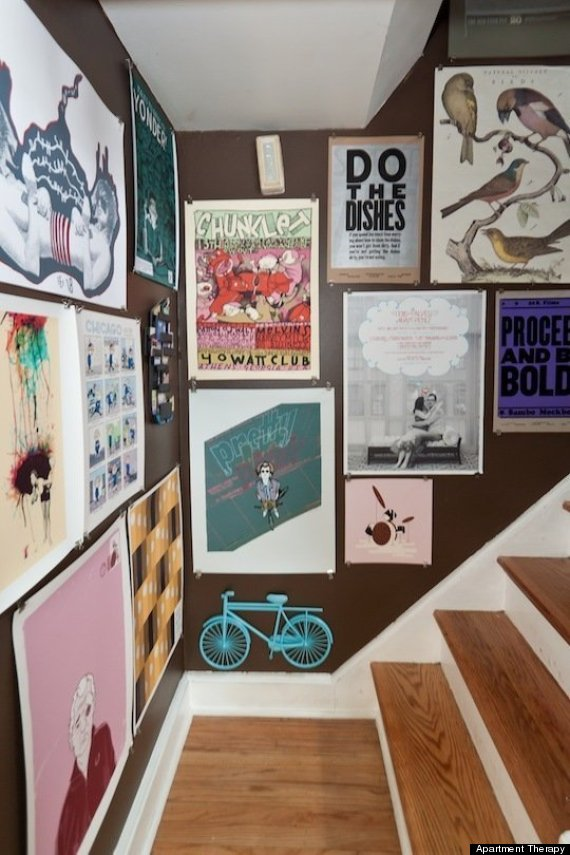 10 poster decorating ideas that won 39 t remind you of a dorm room huffpost. Black Bedroom Furniture Sets. Home Design Ideas