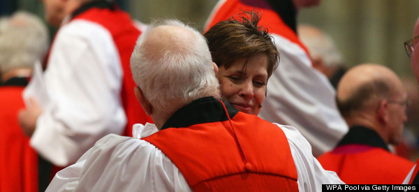 Protests As First Woman Bishop Libby Lane Makes History