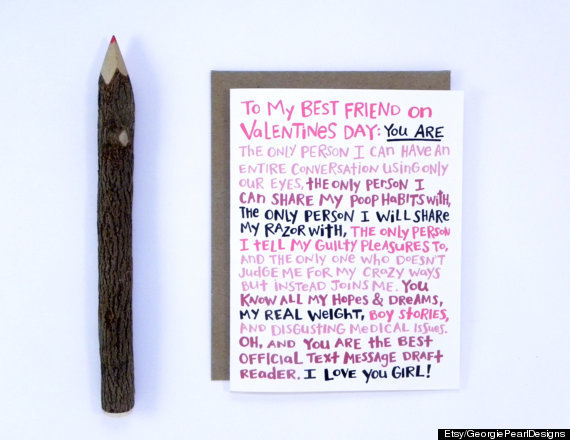 awesome valentine's day cards for every bff in your life  the, Birthday card