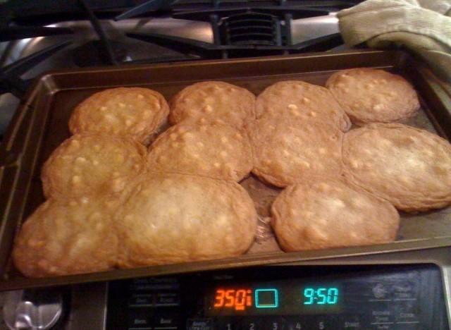 cookie baking fail