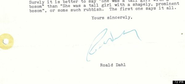 Roald Dahl's Long Lost Letter to Student Rediscovered