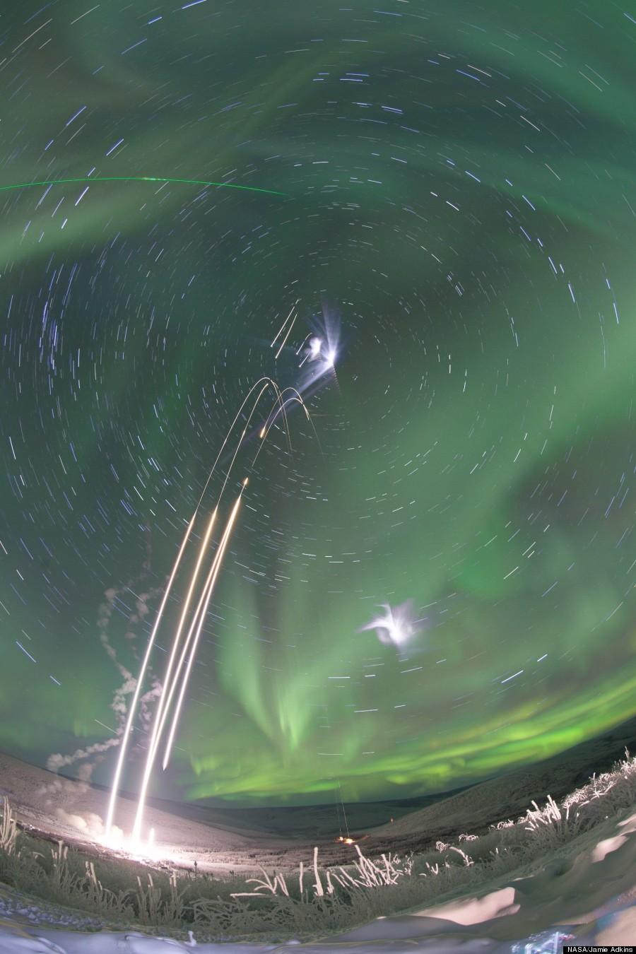 nasa rockets aurora