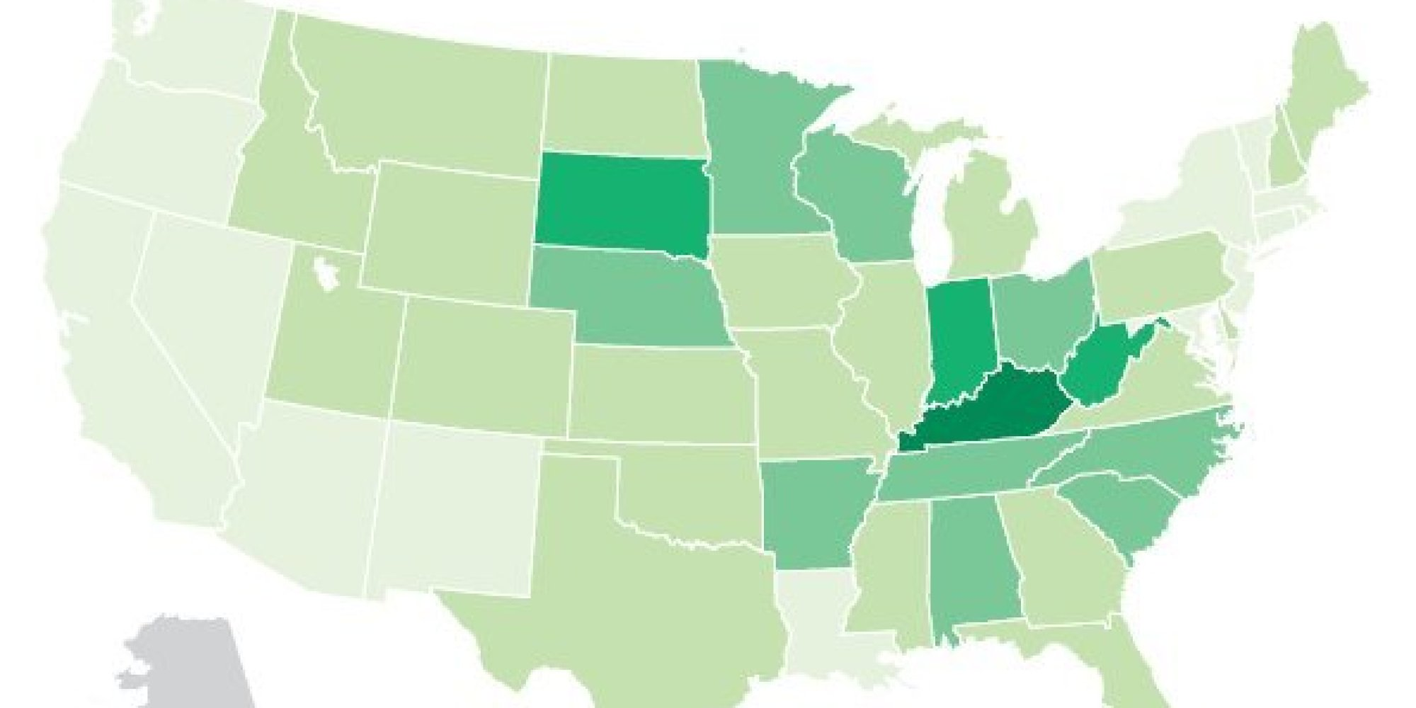 This Map Shows Which States Are Utterly Obsessed With Mountain Dew Huffpost