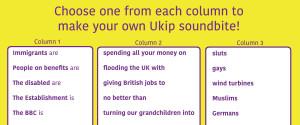 UKIP SOUNDBITE GENERATOR
