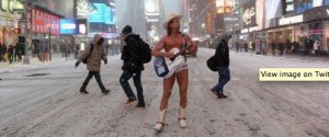 NYC NAKED COWBOY BLIZZARD