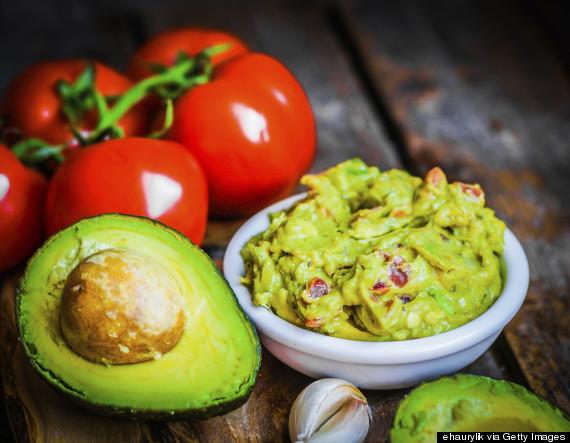 eating guacamole