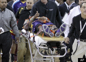 Chris Paul Injury Stretcher