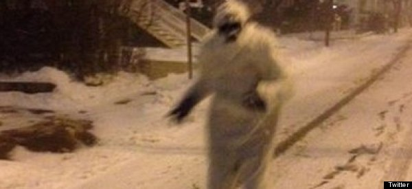 Boston Yeti Roams Snowy Streets, Assures People 'I'm A Vegan'