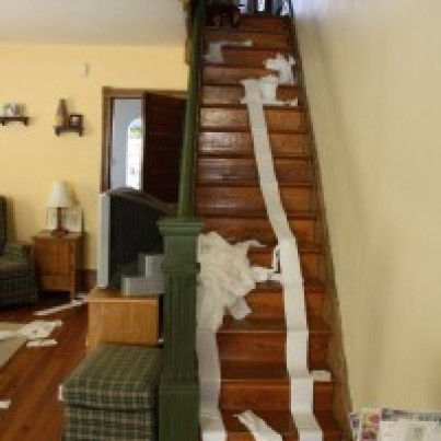 stairs mess