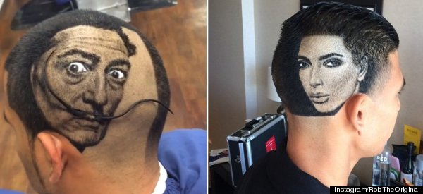 Barber Creates Astounding Celebrity Portraits In People's Hair