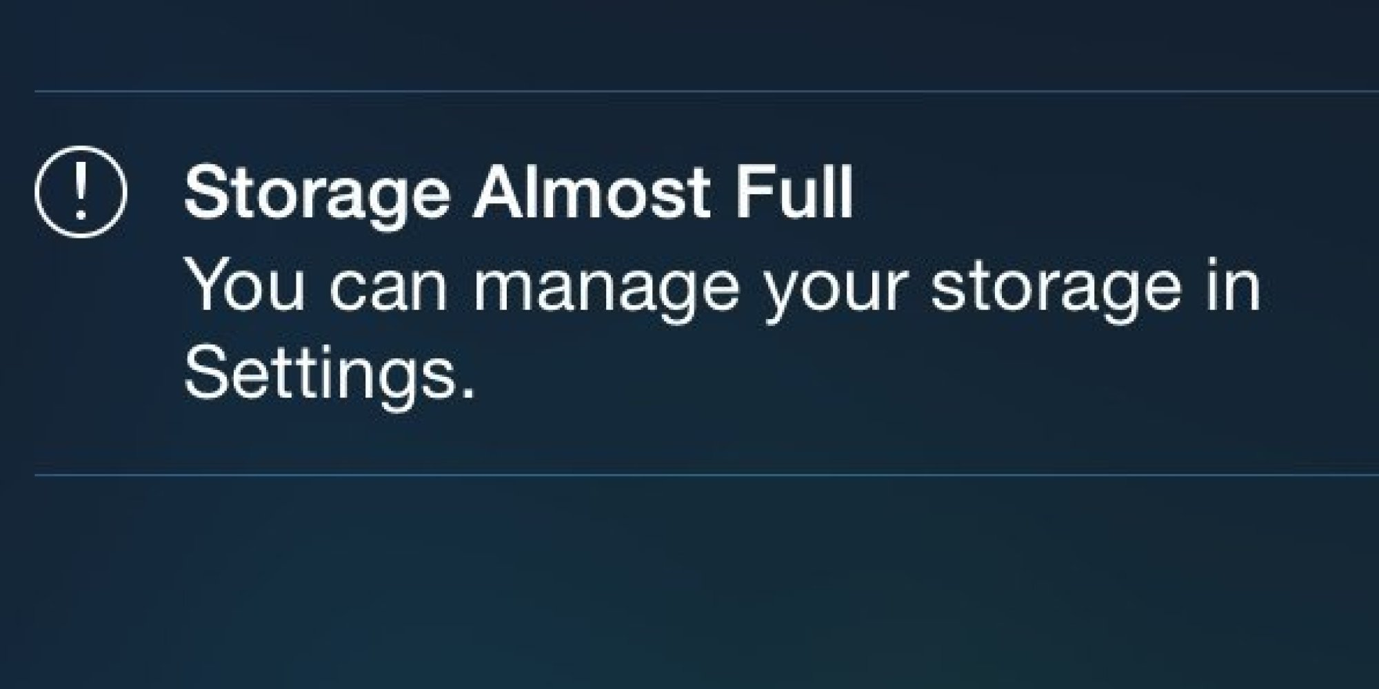 iphone storage full message if your iphone is tight on storage space try the new ios 15470