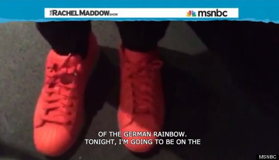 maddow shoes letterman