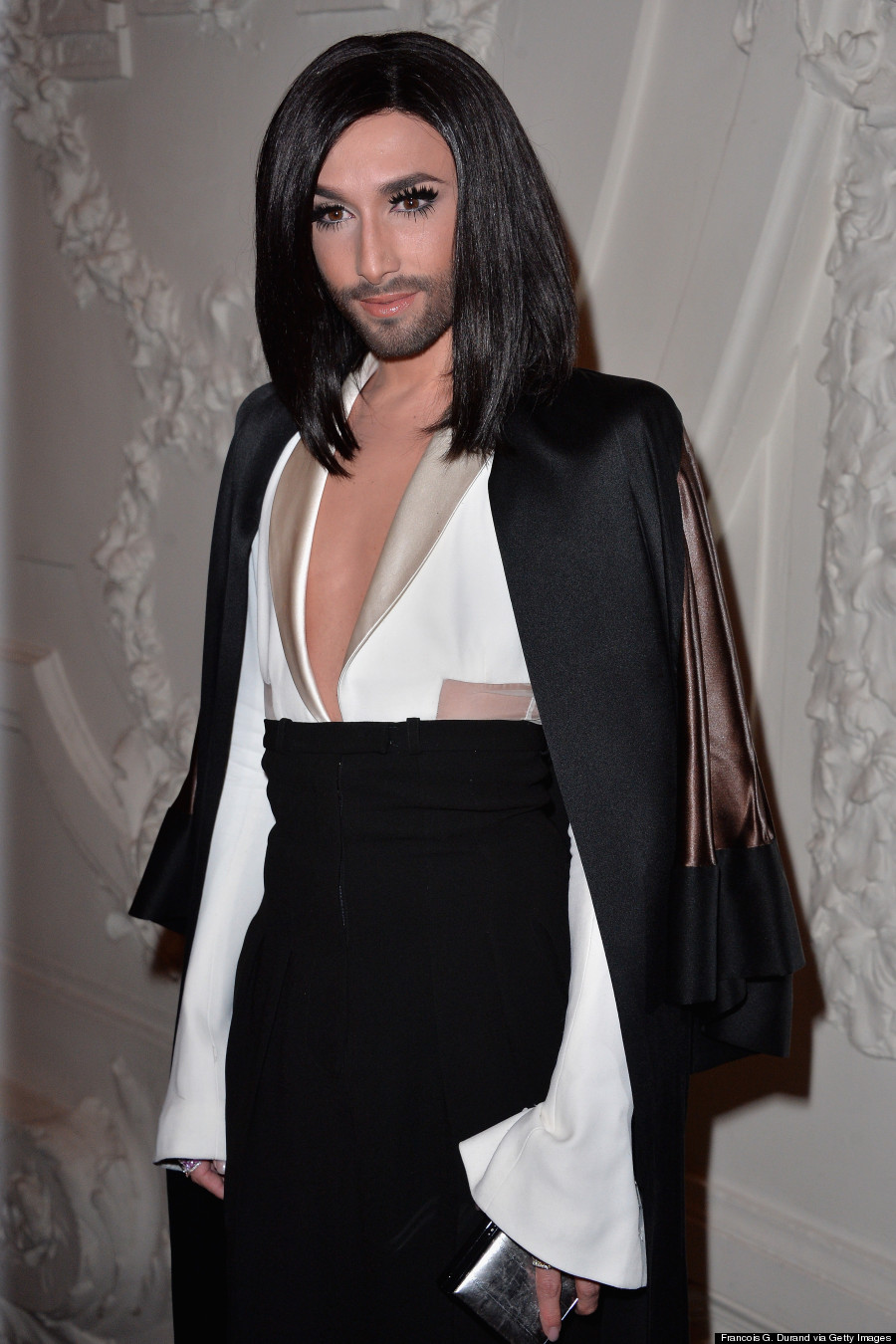 Conchita Wurst Turns Heads At Paris Fashion Week
