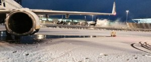 STANSTED AIRPORT SNOW