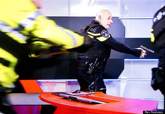 student storms dutch tv