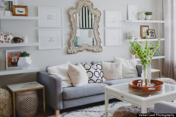 7 ways to use gray decor without feeling depressed huffpost - Decorating with gray furniture ...