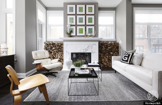 7 ways to use gray decor without feeling depressed huffpost for Decorating with a grey couch