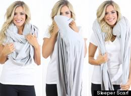 Genius Blow-Up Scarf Makes It Impossible Not To Nap