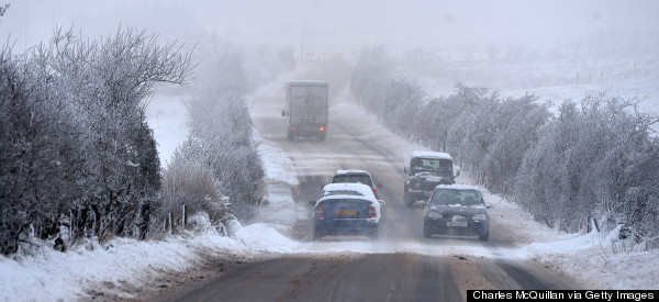 Britain Shivers And Freezes As Roads Ice Over