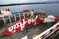 Wreckage of the recovered AirAsia plane | Pic: Getty