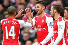Arsenal players celebrate | Pic: PA