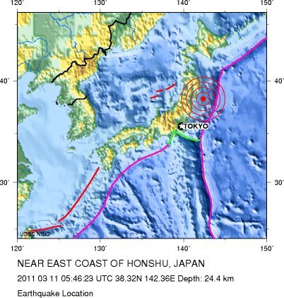 Japan Earthquake MAP Epicenter Most Impacted Areas From Massive - Japan map earthquake