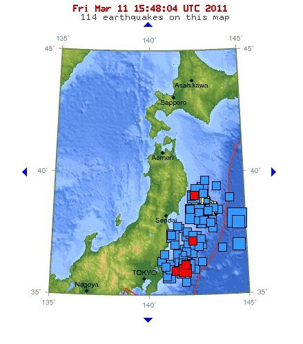 Japan Earthquake Map Today.Japan Earthquake Map Epicenter Most Impacted Areas From Massive