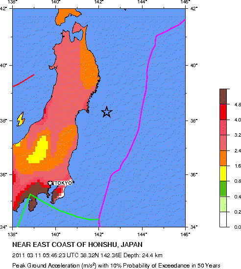 Japan Earthquake MAP Epicenter Most Impacted Areas From Massive - Japan earthquake zone map