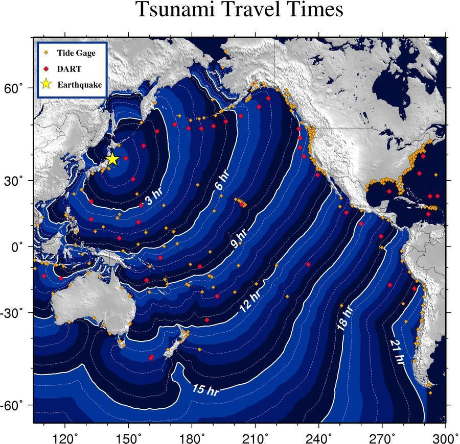 Map Of California Areas That Could See Tsunami Photos