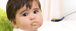 Baby Eating Puree