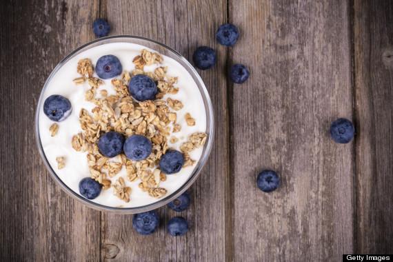 berries yogurt nuts