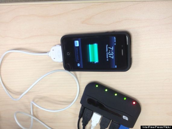 smartphone battery charger
