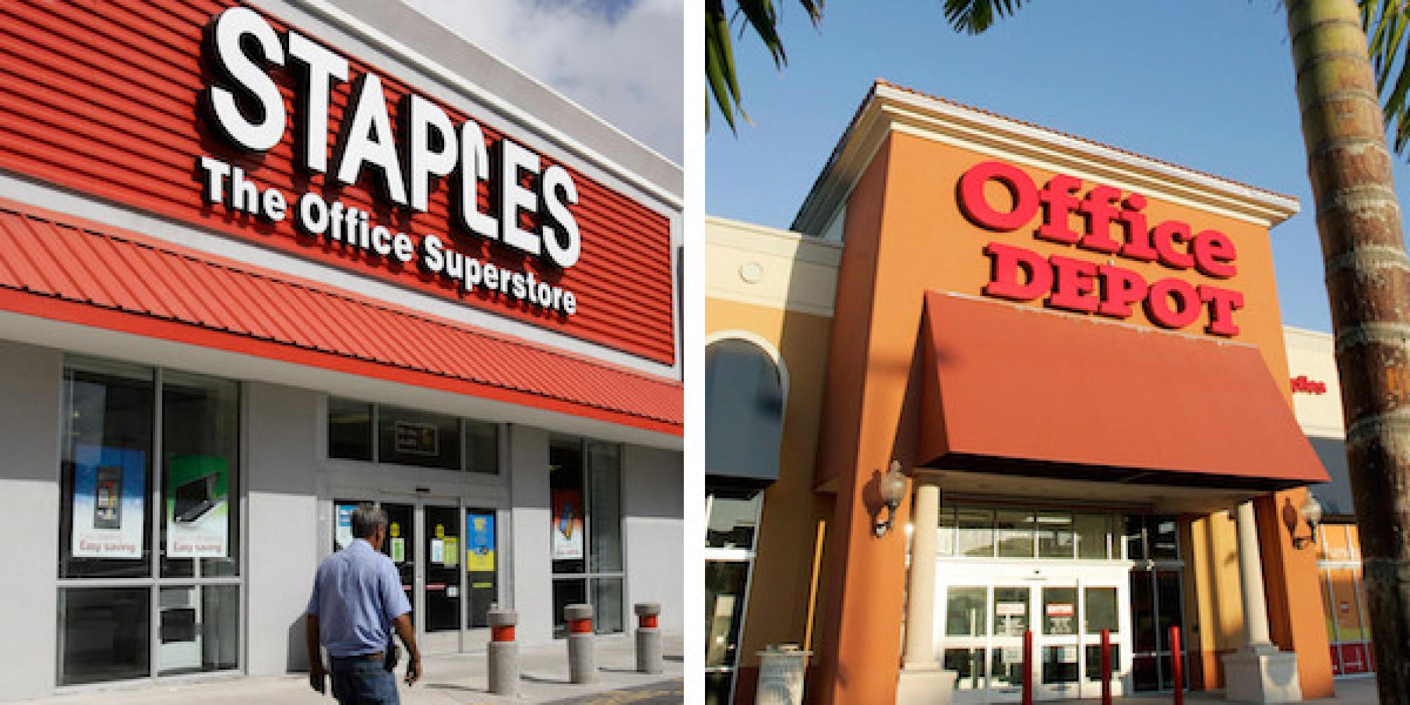 Staples Office Depot In Advanced Merger Talks Wsj Huffpost