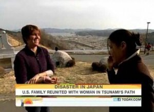 Ann Curry helps American in Japa