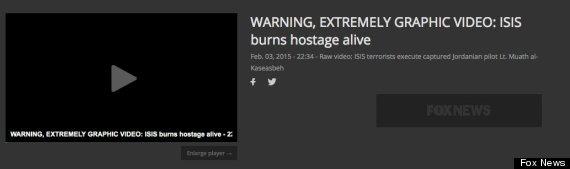 isis video burn