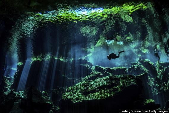 underwater cave mexico