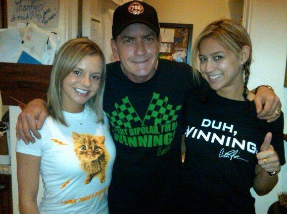 charlie sheen winning shirt hot topic. Charlie has taken to Twitter