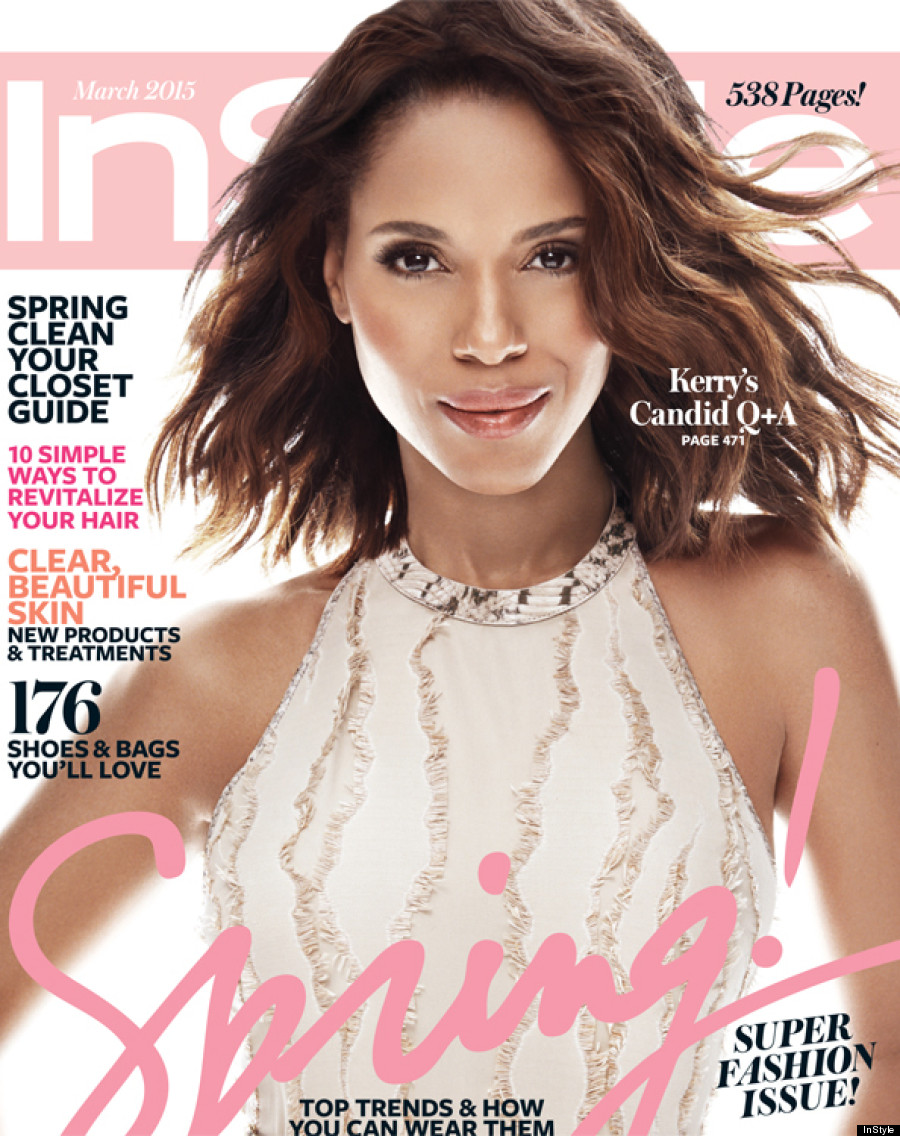 Instyle Magazine Us: Kerry Washington's InStyle Cover Is Making People Very Upset