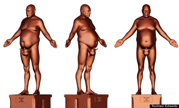 naked bill cosby statue