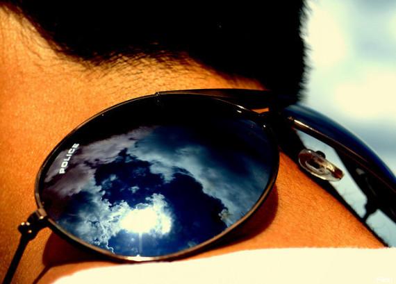 sunglasses neck