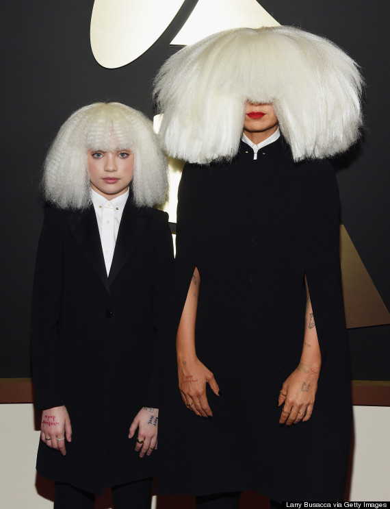 Sia Can't See The Haters In Her Huge Grammys Wig | The Huffington Post
